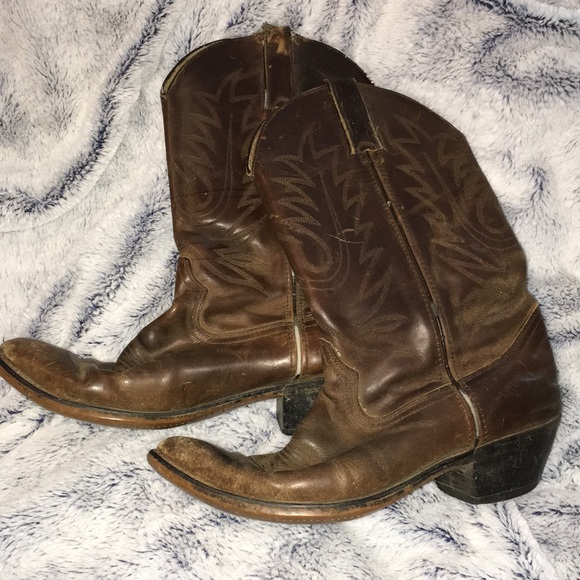Shoes - Brown Cowboy Boots